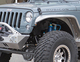 Cleanly mounted LED side marker lights on a Jeep JK