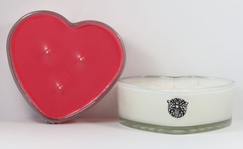 Heart Shaped 3-Wick Candle