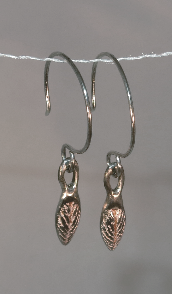 Earrings MW Silver Leaf