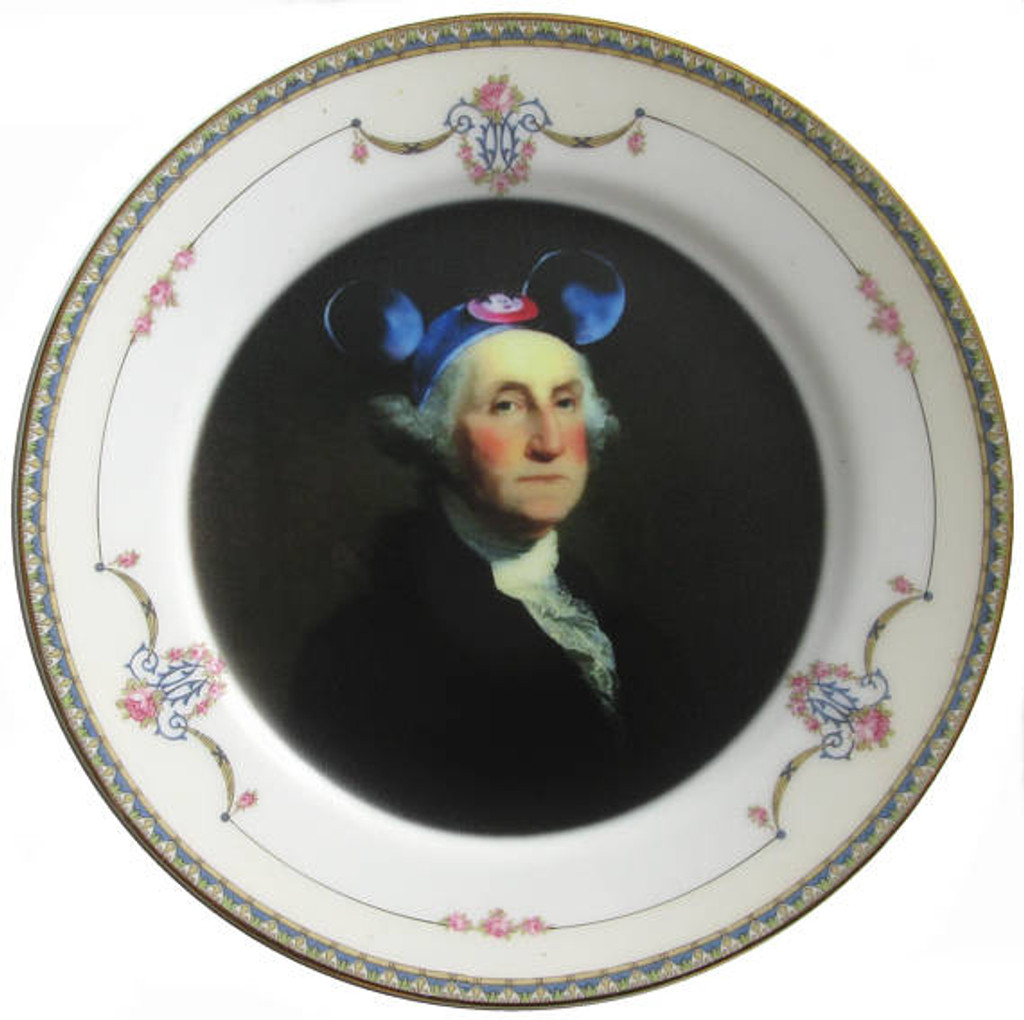 Mouseketeer Washington Plate