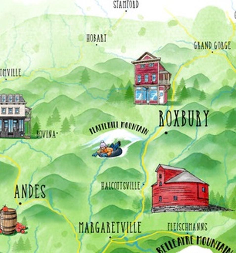 Illustrated Catskills Map