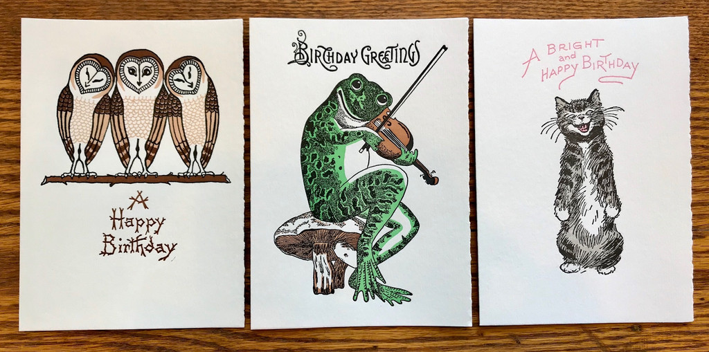 Animals Birthday Card Set