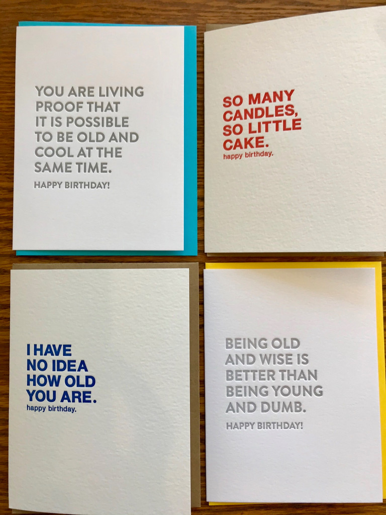 Humorous Birthday Card Set