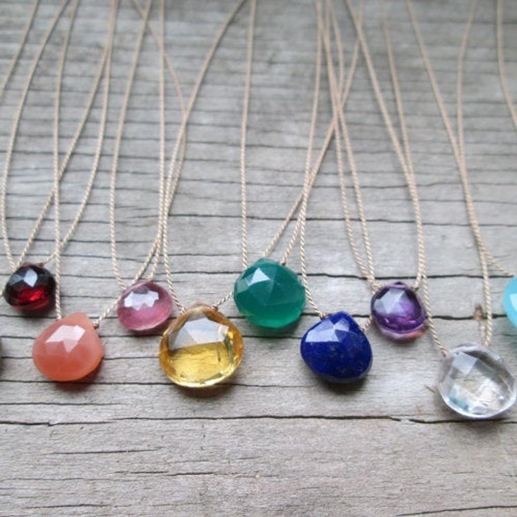 Single Gemstone Necklace