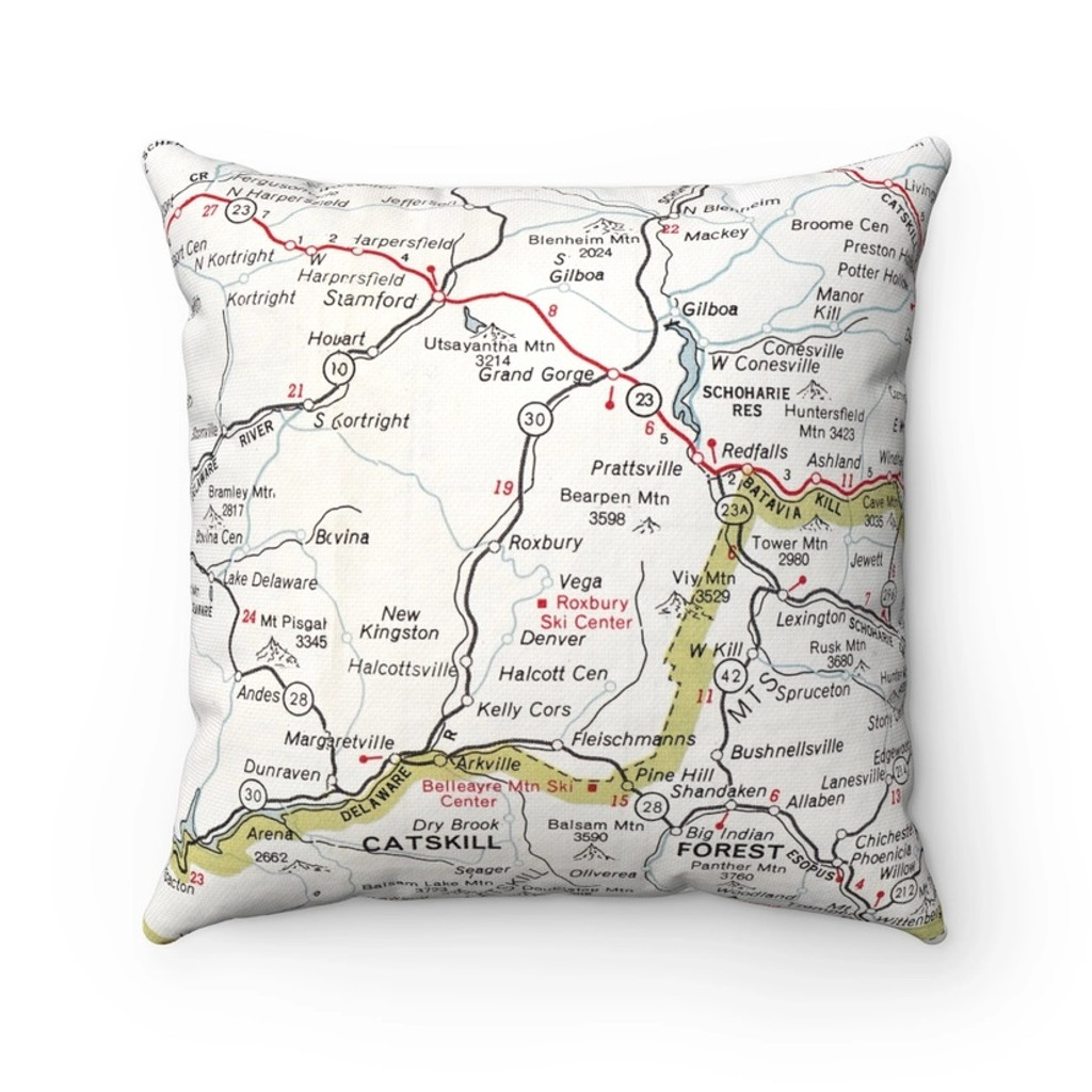Catskills Map Pillow