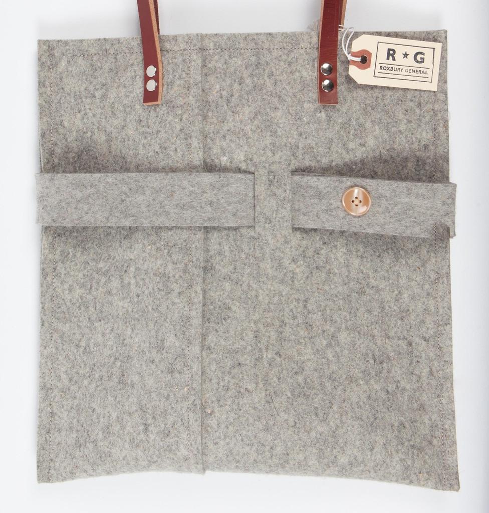 Flat Weave Felt Handbag
