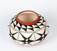 Black on White Mica Clay bowl