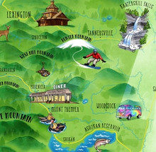 Illustrated Catskills Map