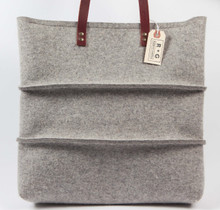 Cross-Panel Pleat Felt Bag
