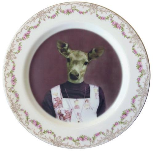 Fawn School Portrait Plate