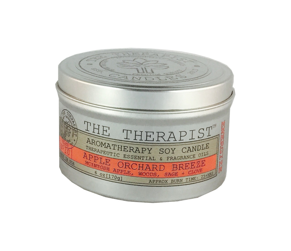 No. 10 Apple Orchard Breeze Soy Candle - Travel Tin 6 oz