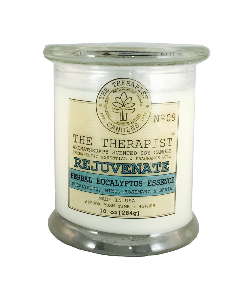 eucalyptus mint soy candle, essential oil scented candle, premium fragrance candle