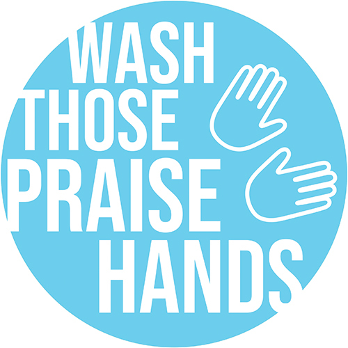 Praise Hands Circle Floor Decal - Adhesive Vinyl