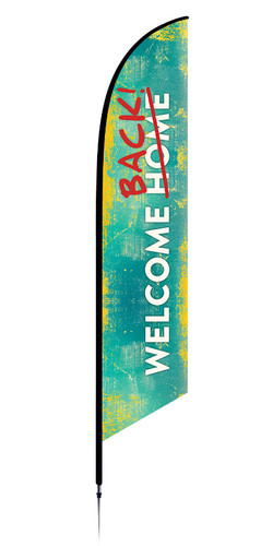 Welcome Back Feather flag