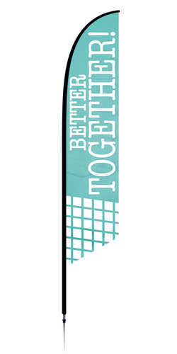 COVID ReOpen Feather Flag - Style 3 - Better Together