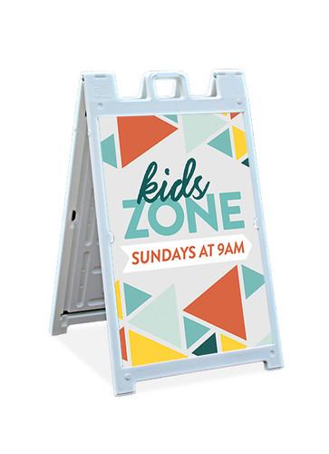 Kids Zone Sandwich Sign