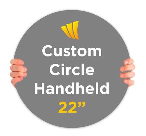 Custom Circle Handheld Signs that Pop!