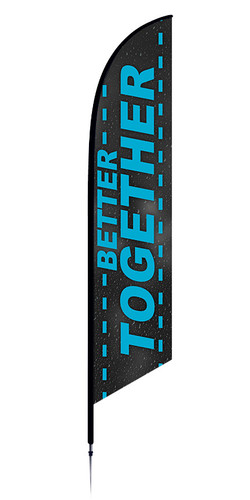 Style 6 Better Together Feather Flag