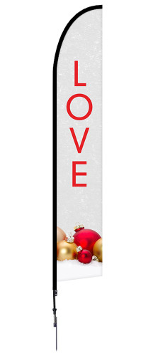 Christmas Feather Banner