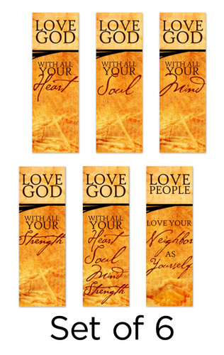 Set of 6 Commandment Series Church Banners