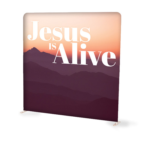 Jesus is Alive Tension Backdrop Display