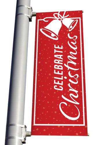 Christmas Light Pole Banner