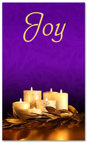 Advent Banner - ADV004 Joy Purple