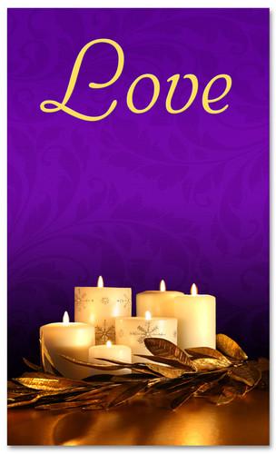 Advent Banner - ADV003 Love Purple