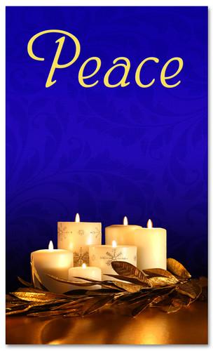 Advent Banner - ADV006 Peace Blue