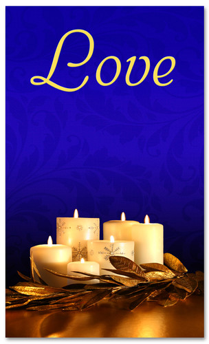 Advent Banner - ADV007 Love Blue