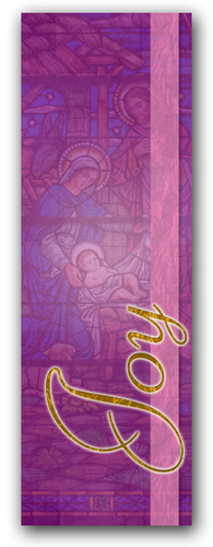 Advent banner in fabric adv019
