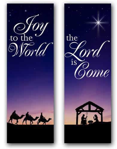 Christmas Nativity Scene Banners