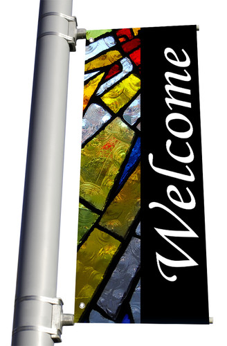 DS Light Pole Banner - Welcome 3