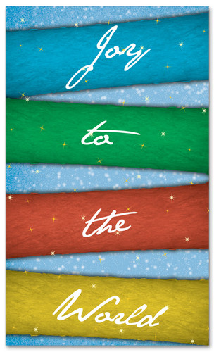 Christmas banner joy to the world colors