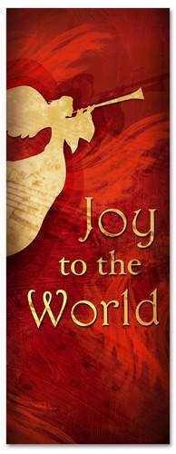 Christmas banner Joy to the world 3x8