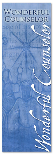 Christmas banner Wonderful counselor Names of Christ series