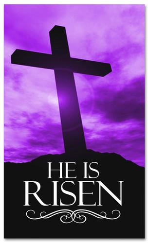 E014 He Is Risen Purple -xw