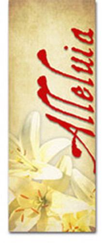 3x8 E031 Alleluia Lilies Red