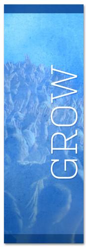Blue grow banner - Christian Church Banner