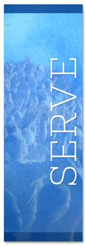 Blue serve banner - Christian Church Banner