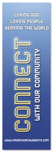 Christian church Connection banner - Blue