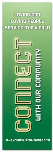 Church Connection banner - Green