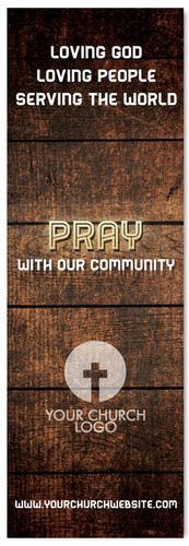 Pray with our Community - Christian Church Banner