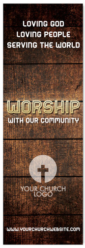 Church Worship banner - Worship God with our Community