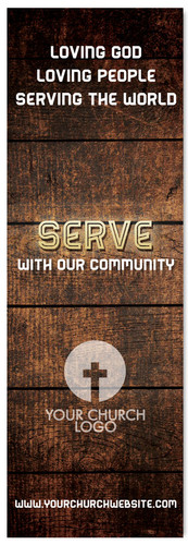 Serve with our Community - Christian Church Banner