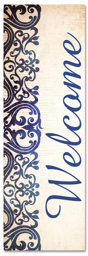 victorian blue welcome banner