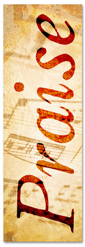Musical notes praise banner