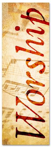 Musical notes worship banner