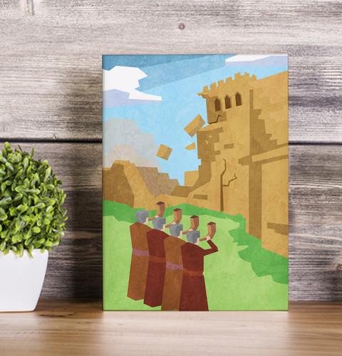 Jericho wall canvas print