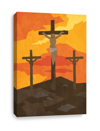 Christian canvas print - Crucifixion of Jesus